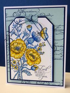 CC454  Floral Tag by BeckyTE - Cards and Paper Crafts at Splitcoaststampers