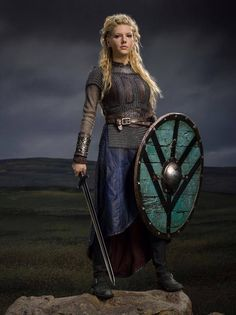 Vikings... Kathryn Winnick is soooo bad ass. I love her character!