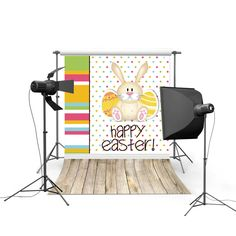 2017 new spring easter photography backdrops sky grass land eggs new born baby children photographic background Easter Day P0325 #Affiliate