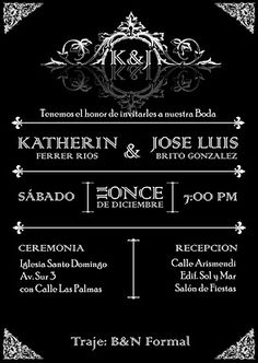 Invitación de Boda/Wedding Invitation  Design by: Yil Siritt
