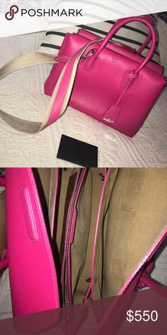 Authentic MCM Milla tote w/ detachable strap Just the cutest shade of pink! Lightly used in amazing condition. Comes with authenticity card, the extra strap, and dust bag. Non smoking and no pet household. Let me know if interested. Looking to sell so make an offer 🤗 MCM Bags Shoulder Bags