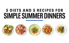 5 Simple Summer Dinners for 5 Diets Healthy Habits, Healthy Life, Healthy Eating, Healthy Summer, Healthy Recipes, Healthy Weight, Healthy Foods, Clean Eating, Wrap Recipes