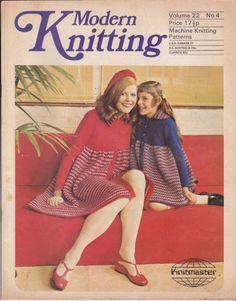 VINTAGE 1970s MODERN KNITTING MACHINE KNITTING PATTERNS MAGAZINE NO 4