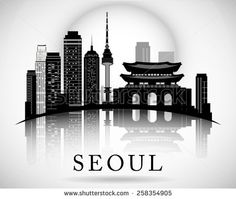 seoul skyline silhouette - Google Search