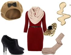 black tights would look better and I wouldn't wear that hat but otherwise I really like this!