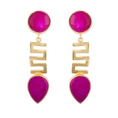 Queen Pink Enchanted maze Earrings  #jewelry #semiprecious #accessories #handmade #fashion #dearafashionaccessories #gorgeous #deara #dearafashion #ethnic