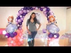 Como hacer un arco de la princesa sofia con globos - YouTube