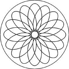 Mandala Blumen - Gratis Malvorlage für Kinder und Erwachsene