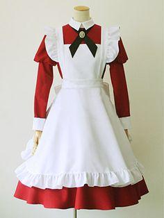 シックで可愛い感じのバランス♪ランタンスリーブの特徴あるシルエット♪シャトーメイド服【楽天市場】
