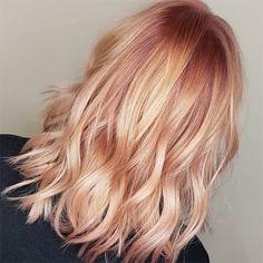 Blond Rose, Dark Blonde Hair, Peach Hair Colors, Hair Color Pink, Pink Peach Hair, Apricot Hair, Brown Ombre Hair, Strawberry Blonde Hair, Rose Gold Hair