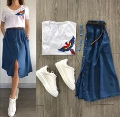 terno top and skirt fashion skirt Modest Outfits, Classy Outfits, Skirt Outfits, Stylish Outfits, Casual Dresses, Cool Outfits, Skirt Fashion, Fashion Dresses, Hijab Casual