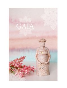 Gaia - Fertility Goddess Statue Doula Midwife Gift Figurine Goddess Sculpture Pagan Altar Birth Art Blessingway Womb blessing In Greek Mythology, Gaia was the personification of the earth and the ancestral mother of all life. She was born at the dawn of time, the beginning of creation. According to Hesiod, she was a Protogenoi, emerging out of Chaos as one of the first deities. She brought forth other Protogenoi to form the features of the earth: in her union with the sky (Ouranos), Gaia…