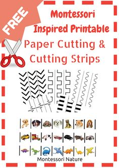 Montessori Nature: Montessori Printable Paper Cutting and Cutting Strips