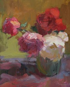 Kathryn Townsend Painting Studio: Still Life with Roses - SOLD
