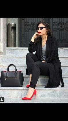 What to wear with red shoes