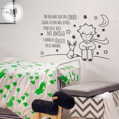 Looma Vinilos Decorativos El principito y el Zorro Vinyl Decor, Kids Room Design, Cute Couples Goals, Wall Decal Sticker, Boy Room, Diy Art, Kids Bedroom, Playroom, Projects To Try