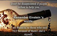 remember Einstein's words
