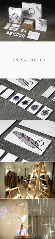 Les Orenetes boutique identity packaging branding curated by Packaging Diva PD