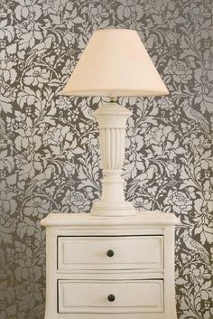 Pretty New French Floral Damask Stencil in two sizes | http://www.royaldesignstudio.com/