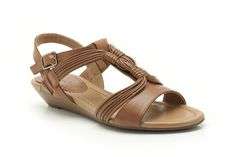 98470c897b7d8d Womens Casual Sandals - Santa Party in Dark Tan Leather from Clarks shoes