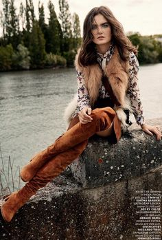 Mariia Kyanytsi Is Luxe Bohemian In Bjarne Jonasson Images For Vogue Russia October 2015 - 3 Sensual Fashion Editorials | Art Exhibits - Women's Fashion & Lifestyle News From Anne of Carversville