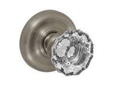 Scalloped Clear Door knob by HomeStory.  #HomeDesign #DoorKnobs #HomeRemodel #Hardware #Doors