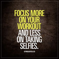 Focus more on your workout and less on taking selfies  Now I believe you should do whatever makes you happy. And if selfies makes you happy.. But sometimes you see people in the gym that really seem to spend WAY more time on selfies than the actual workout the are in the gym for.. Aren't you in the gym to train? Focus!  Smash that like if you agree!  #noselfies #trainharder #focus #gymquotes