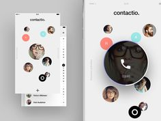 Contacts app concept by Gediminas Saulis on Dribbble Flat Design Icons, Mobile Ui Design, Dashboard Design, App Ui Design, User Interface Design, Design Design, Profile App, Card Ui, Application Design