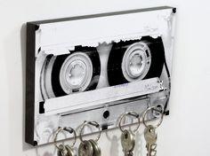 Schlüsselbrett für Tape-Liebhaber, Kassette Vintage / vintage music love: keyboard, cassette by heyhey via DaWanda.com