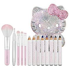 Sparkly makeup brushes and pencils