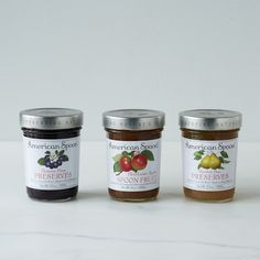 Damson Plum, Heirloom Apple & Pear Preserves (3 Jars), a great trio for a holiday gift- available at @food52