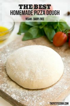 This is the ONLY recipe you'll ever need for authentic, thin and crispy, Italian homemade pizza dough - Naturally vegan and dairy-free, and just 5 ingredients needed! #vegan #dairyfree thepetitecook.com