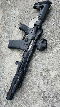 Weapons Guns, Airsoft Guns, Guns And Ammo, Ar Pistol Build, Ar15 Pistol, Tactical Rifles, Firearms, Armas Wallpaper, Custom Guns