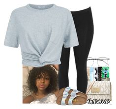 """"""""""" by xtiairax ❤ liked on Polyvore featuring Wildfox, T By Alexander Wang and Birkenstock"""