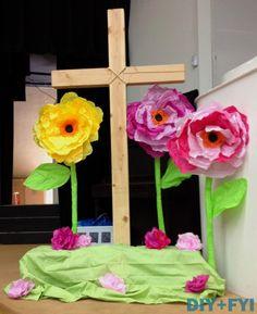 Giant tissue paper flowers!