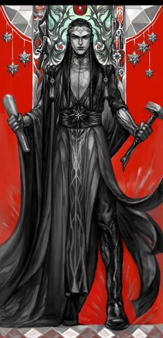 Feanor by Angel1802. Fëanor son of Finwë, great craftsman, the maker of the Silmarils and inventor of the Tengwar.