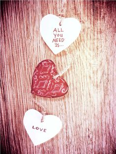 All you need is …..LOVE……. and some Air dry clay!