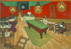 Van Gogh, the Cafe de la gare of Arles.