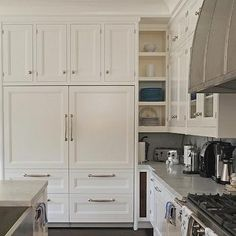 Cabinets Over Refrigerator, Transitional, Kitchen, Bakes And Company White  Integrated Custom Panel Refrigerator