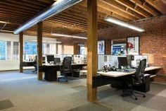 modern denver architecture open work space desk cubicle
