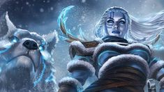 Skadi The Norse Goddess And Giantess Of Winter - The Game of Nerds Norse Goddess, Norse Mythology, White Wolf, Winter Art, Loki, Vikings, Concept Art, Lion Sculpture, Nerd
