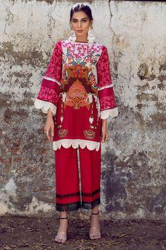 Pakistani Lawn Suits, Ethnic, Kimono Top, Trousers, Sketch, Language, Sari, Floral, Sleeves