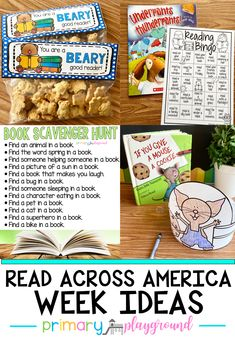 Come check out our Read Across America Week Ideas. From reading bingo, a scavenger hunts to mystery readers, there's something for everyone!