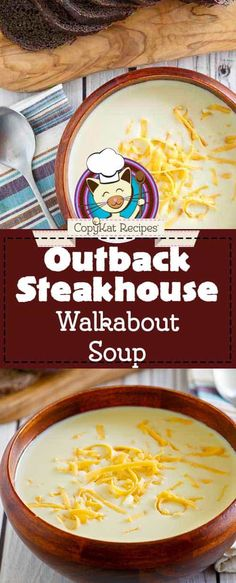 Onion & Cheese Spup Missing Outback Steakhouse Walkabout Soup since it was taken off the menu? Make the creamy onion soup at home with this easy copycat recipe. Onion Soup Recipes, Easy Soup Recipes, Gourmet Recipes, Cooking Recipes, Cat Recipes, Onion Soups, Fondue Recipes, Best Cookie Recipe Ever, One Pot Dinners