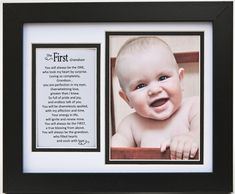 First Grandson Photo Frame with beautiful poem grandma and grandpa will love.