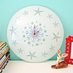 Clock from Vintage Light Globe •Light Globe, Clock kit, Paint, Glue, Number stickers (optional) •Tutorial
