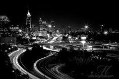 Atlanta at night in Black and white-artwork?