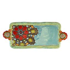 Lina's Petals Long Tray by Laurie Pollpeter Eskenazi: Ceramic Tray available at www.artfulhome.com