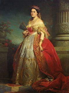 "Édouard Louis DUBUFE, ""Retrato de la Princesa Mathilde Bonaparte, Condesa Demidova y Princesa de San Donato (1820-1904)""; óleo sobre lienzo, 1861."