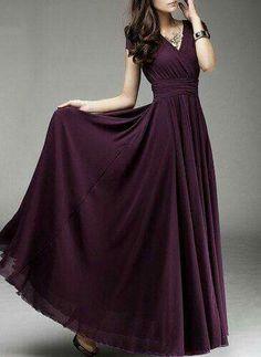 Buy Women's Fashion Bohemian Maxi Dress Long Evening Dress V-neck Sleeveless Vestidos (Choose one size larger) at Wish - Shopping Made Fun Chiffon Maxi Dress, Dress Skirt, Dress Up, Wrap Dress, Evening Dresses, Prom Dresses, Formal Dresses, Fall Dresses, Long Dresses